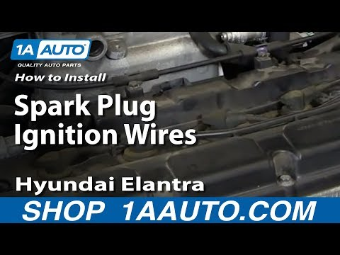 How To Install Replace Spark Plug Ignition Wires 2001-06 Hyundai Elantra 2.0L