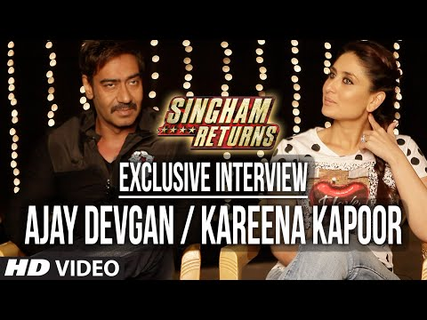 Exclusive Interview: Ajay Devgan and Kareena Kapoor Khan | Singham Retunrs