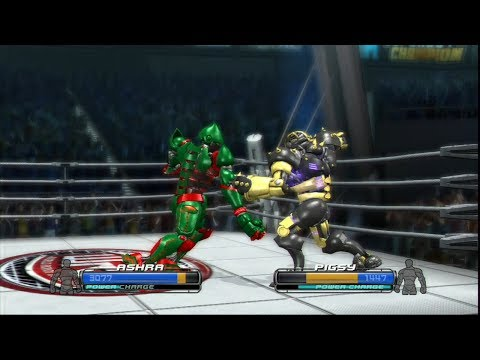 REAL STEEL-ATOM vs NOISY BOY & ASHRA vs PIGSY & METRO vs MIDAS(ЖИВАЯ СТАЛЬ)XBOX/PS3