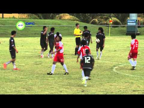 2013 OFC U 17 Championship Preliminary MD2 Cook Islands vs American Samoa Highlights