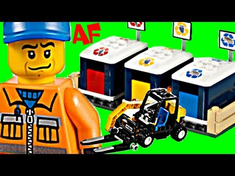 Lego City RECYCLING TRUCK Se 4206 Animated Building Review