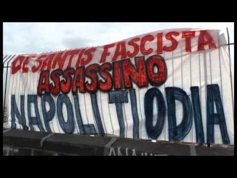Napoli - Striscione per Ciro Esposito, da Scampia 'ciao eroe' -live- (24.06.14)