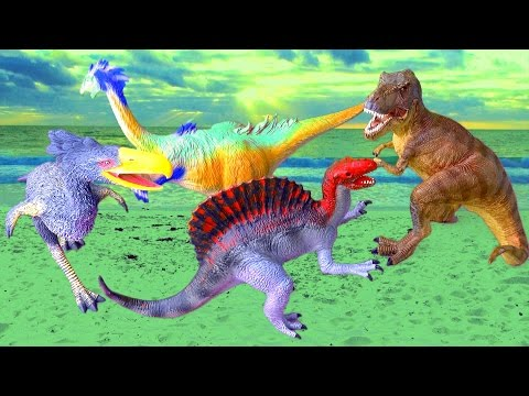 Dinosaur Dinosaurs T rex Tyrannosaurus Spinosaurus Kelenken 공룡 ไดโนเสาร SuperFunReviews