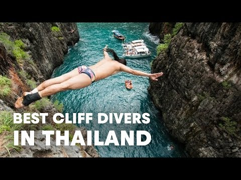 The best cliff divers in the world compete in Thailand