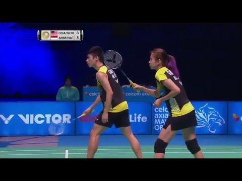 Celcom Axiata Malaysia Open 2016   Badminton F M3-XD   Chan/Goh vs Ahm/Nat