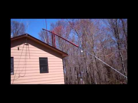 Custom Built 80-Foot Tall Free Standing Ham Radio Tip-Tower in Action!  This is COOL!