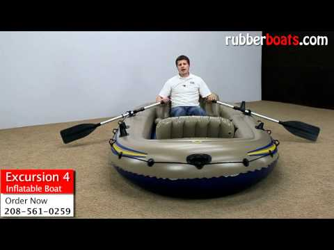 Intex Excursion 4 Inflatable Boat Video Review by Rubber Boats
