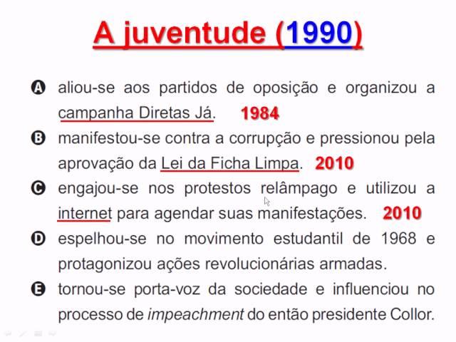 ENEM 2011 - QUESTÃO 01/180 - GABARITO COMENTADO PELO SAPOIA - CADERNO AMARELO