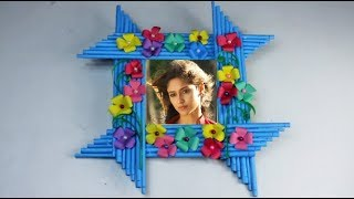 Make Awesome Photo Frame Out Of Paper Sticks | Diy-Paper-Crafts | Mr Crafts 3