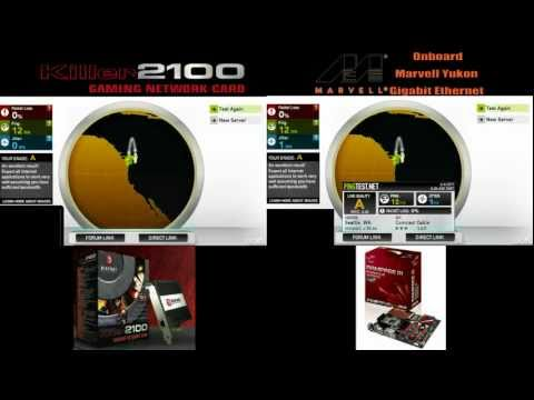 Gigabit Ethernet Ethernet on Big Foot Killer 2100 Vs Marvell Yukon Gigabit Ethernet Review