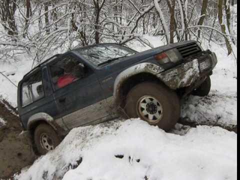 Snow offroad, Mitsubishi Pajero vs Suzuki Vitara vs Land Rover Defender