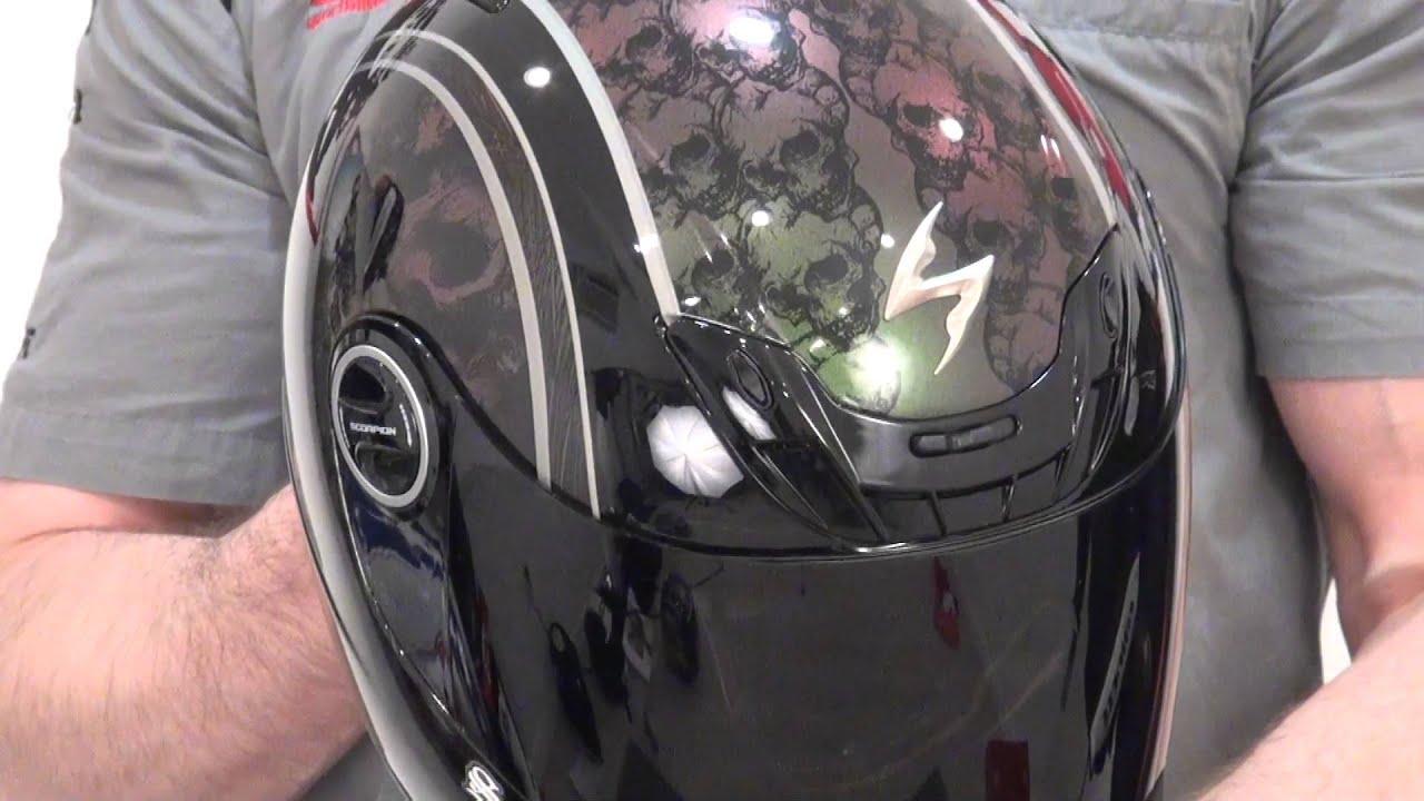 Scorpion Exo 400 Skull Bucket Chameleon Helmet Review From