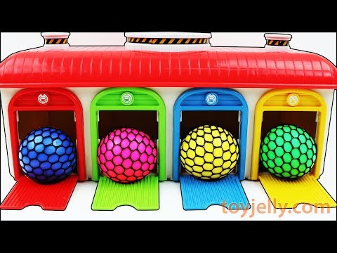 Learn Colors Tayo the Little Bus Slime Balls Disney PEZ Kinetic Sand Ice Cream Cups Surprise Toys