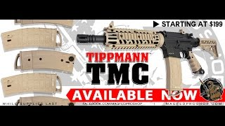 Tippmann TMC MagFed Marker Unboxing and Shooting Demo