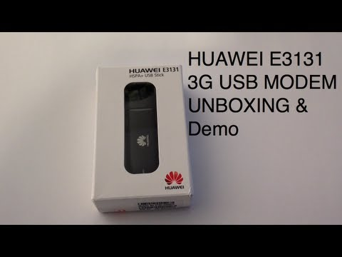 HUAWEI E3131 3G USB STICK MODEM 21.6 Mbps - Unboxing. setup and demo