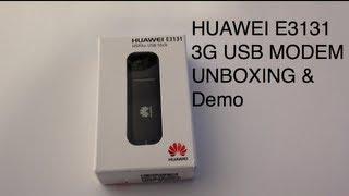HUAWEI E3131 3G USB STICK MODEM 21.6 Mbps - Unboxing, setup and demo