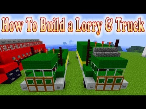 Minecraft Tutorial Of How To Build a Lorry & Truck
