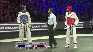 Taekwondo Grand Prix  57kgs Final Jade Jones GB v Eva Calvo Gomez SPAIN