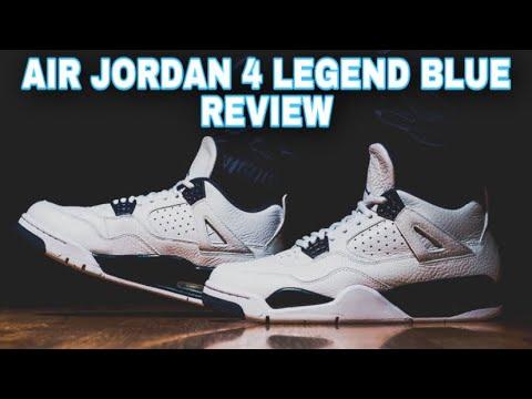 Air Jordan 4 Legend Blue 2015 Retro Columbia Sneaker Unboxing Review + On Feet