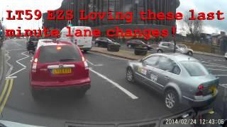 OY59 EWC and LT59 EZS last minute lane change!