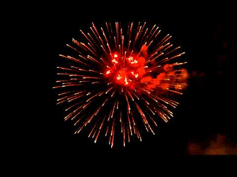 Animated fireworks moving