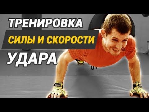 Бокс тренировка на силу удара и скорость удара