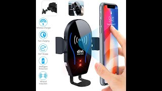 DM Car Phone Mount Air Vent Auto Clamping Cellphone Holder