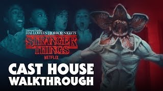 Kids From Stranger Things Walk Through House at Halloween Horror Nights