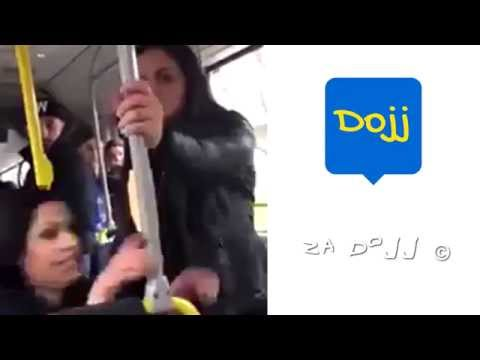 Arab woman beats and insults a bus driver, see what happens!