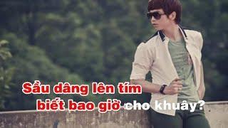 Karaoke Sầu Tím Thiệp Hồng - Sáng tác Hoài Linh