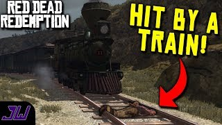 HOGTIED AND HIT BY A TRAIN!   Red Dead Redemption (2018 Full Playthrough) #4