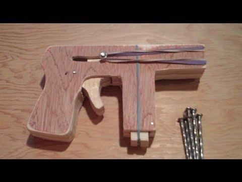 Homemade Wooden Gun - YouTube