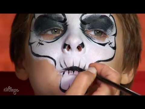 how to do skull face paint for kids  youtube