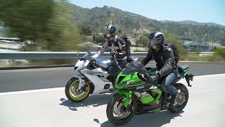 Sportbike vs. Naked Bike: ZX-6R vs. YZF-R6 & Z900 vs. FZ-09 - ON TWO WHEELS