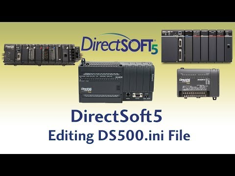 DirectSoft5 Programming Software - Editing DS500ini File
