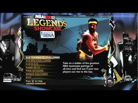 SportsGamerShow - NBA 2K12 Legends Showcase Review
