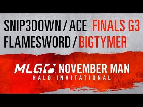 Snip3down/Ace vs. Flamesword/BigTymer - BigTymer POV - Finals G3 - #NovManMLG Halo Invitational