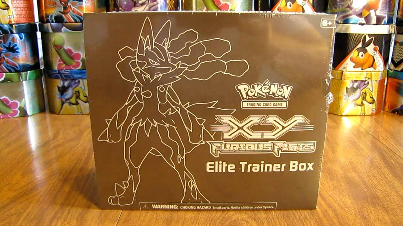 Mega Lucario Furious Fists Elite Trainer Box Opening Youtube
