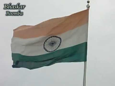 Jana Gana Mana - Lata Mangeshkar - Flag - National Anthem -...
