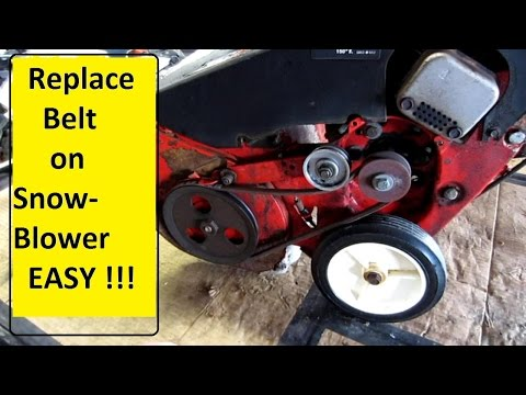 Snowblower belt repair   EASY !!