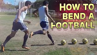 How to Bend a Soccer Ball - Free Kick Tutorial by freekickerz