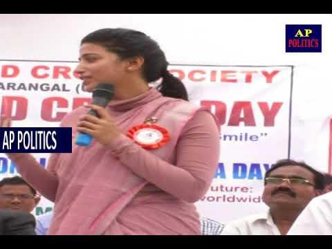 Warangal Collector Amarapali speech on world red cross day AP Politics