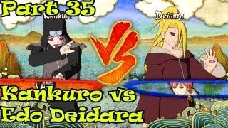 Naruto Ultimate Ninja Storm 3 Walkthrough Part 35 Kankuro vs Edo Deidara [XBOX 360]