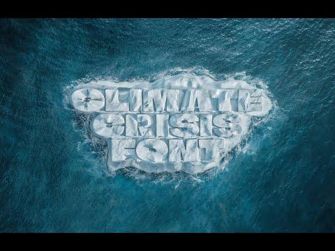 Tipografía que se derrite al compás del cambio climático