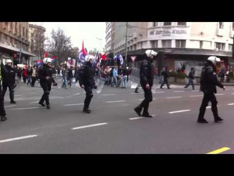 Митинг в Сербии за Путина