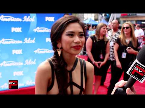 Jessica Sanchez red carpet interview at American Idol Season 12 Finale with Chris Trondsen