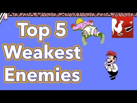 Countdown - Top 5 Weakest Enemies in Video Games