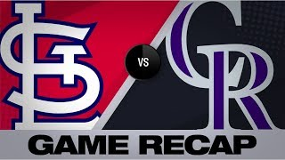 Gonzalez earns win in Rockies' 2-1 victory | Cardinals-Rockies Game Highlights 9/10/19