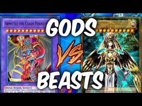 SACRED BEASTS vs EGYPTIAN GODS! (Yu-gi-oh God Card Deck Duel!)