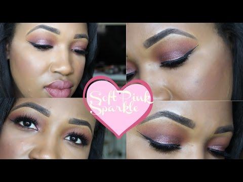 Tutorial   Easy Soft Pink Sparkle   Date Night Look   For Hooded Eyes   Meka Meeks